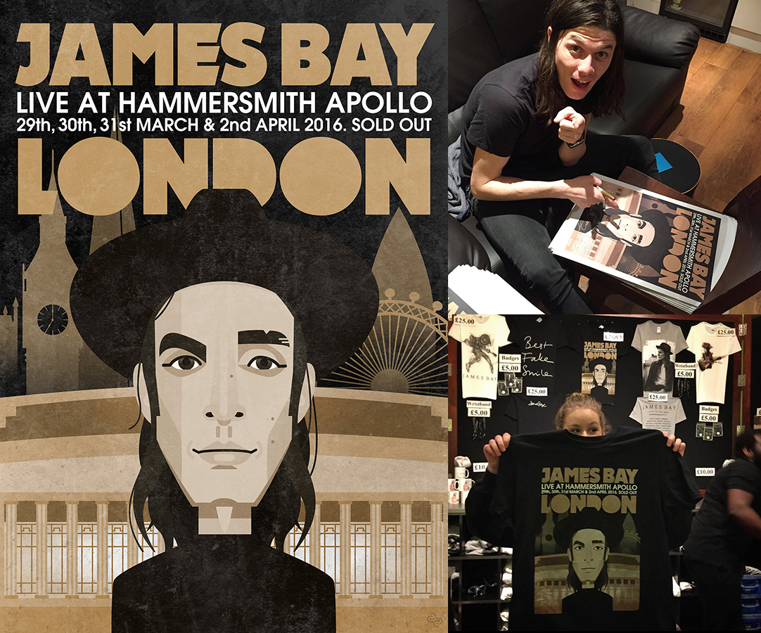 James Bay London poster