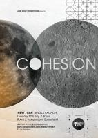 Poster design for Sunderland band Cohesion's 'New Year' single launch show.
